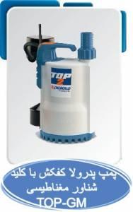 پمپ آب پدرولا کفکش با کلید شناور مغناطیسی (TOP-GM)